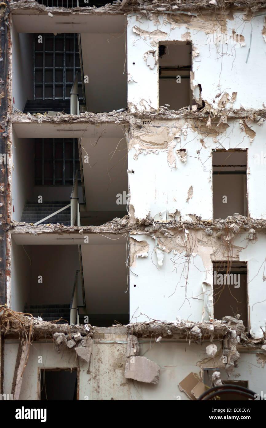 Demolished building - Stock Image