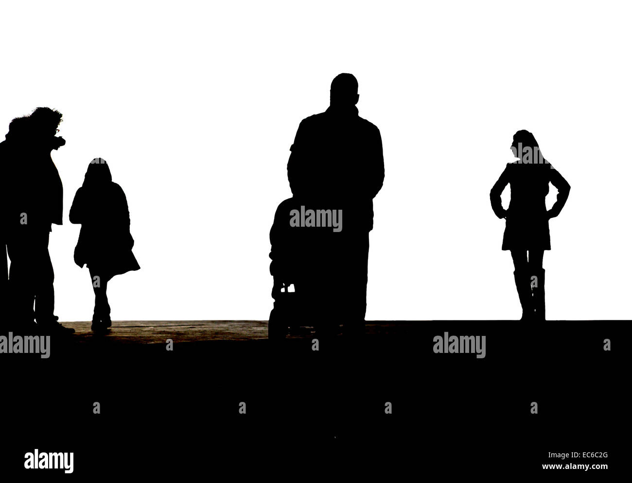 Silhouettes - Stock Image