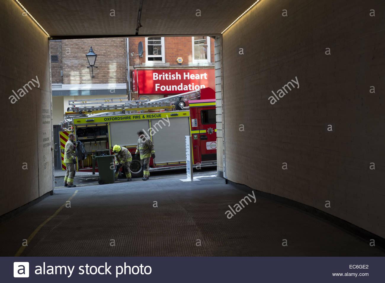 Firebrigade in Oxford - Stock Image