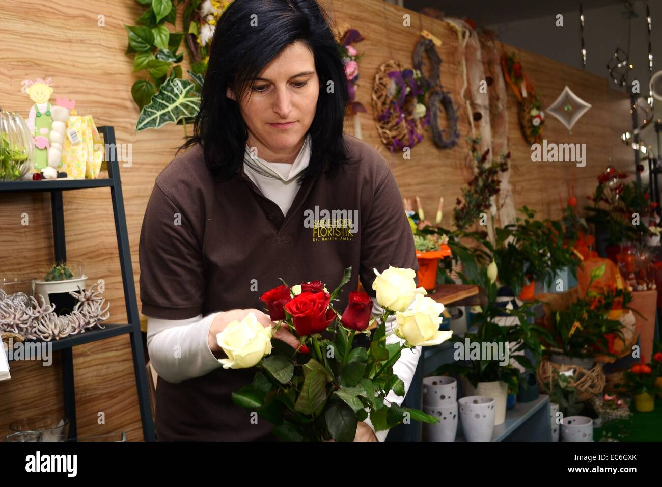 Florist designed bouquet Stock Photo