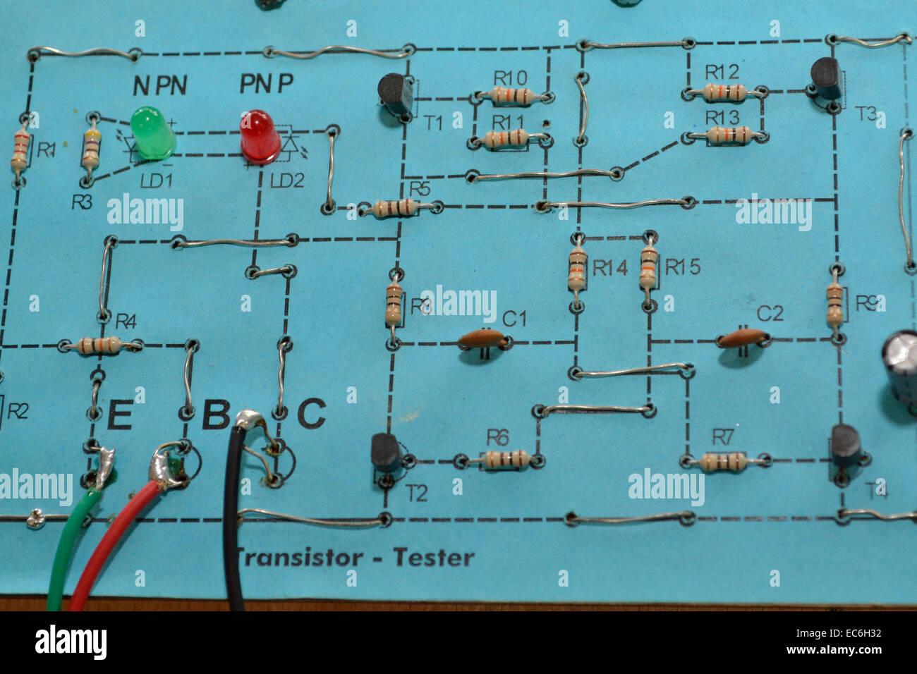 resistor block - Stock Image