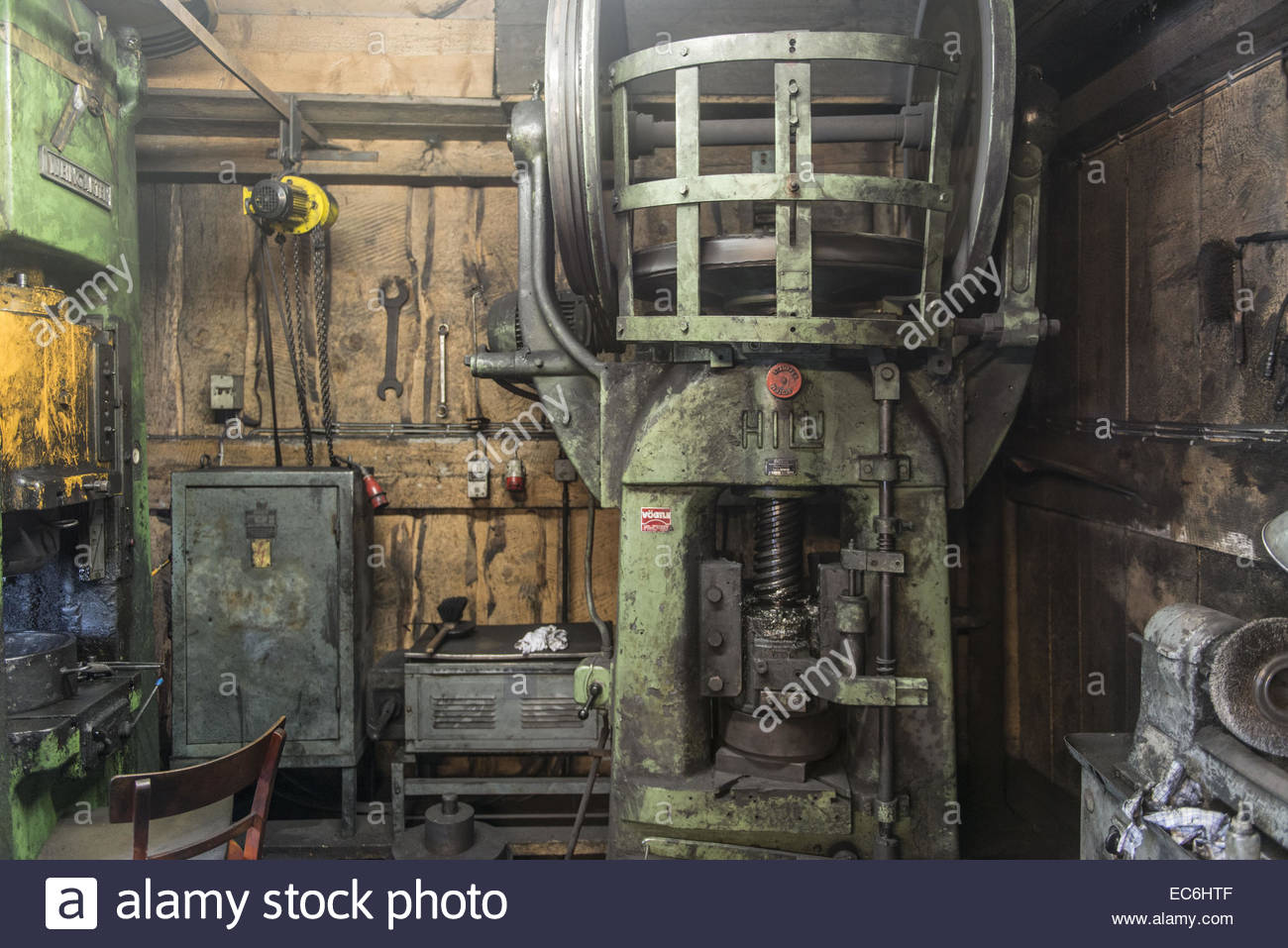 Compression Tool in a Forge - Stock Image