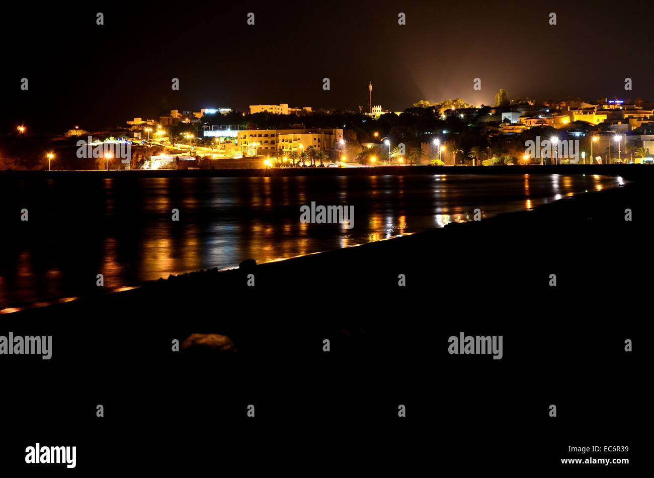 Portugal at night - Stock Image