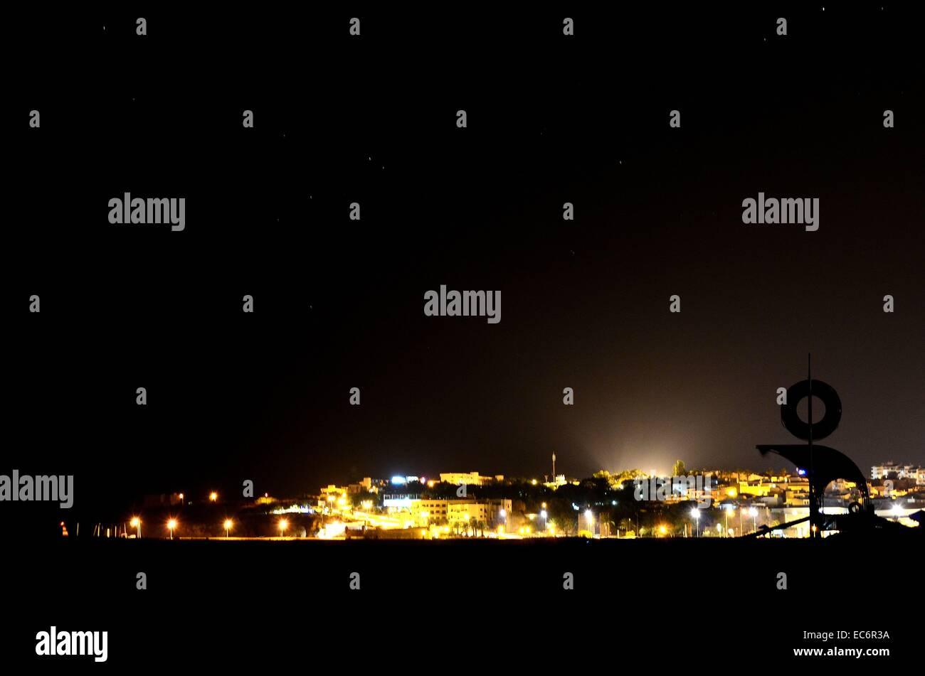 Lagos at night - Stock Image