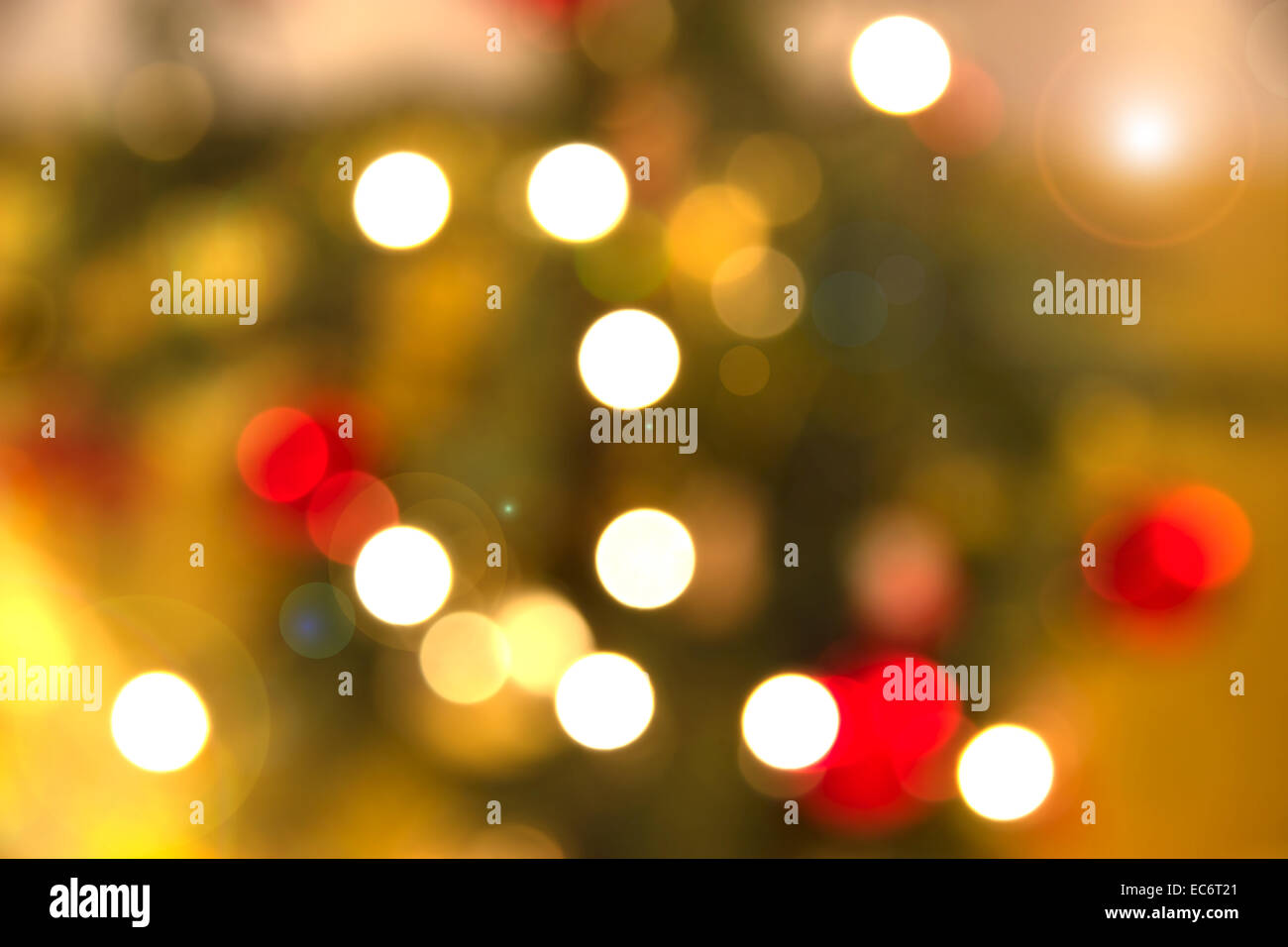 Abstract Christmas lights with aperture effect - Stock Image