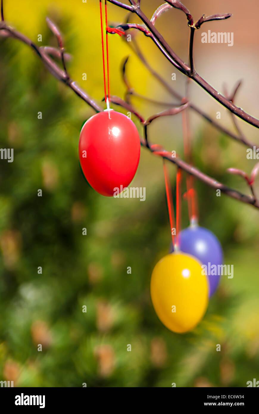 hang, Easter Egg, bemahlt, colorful 2 - Stock Image