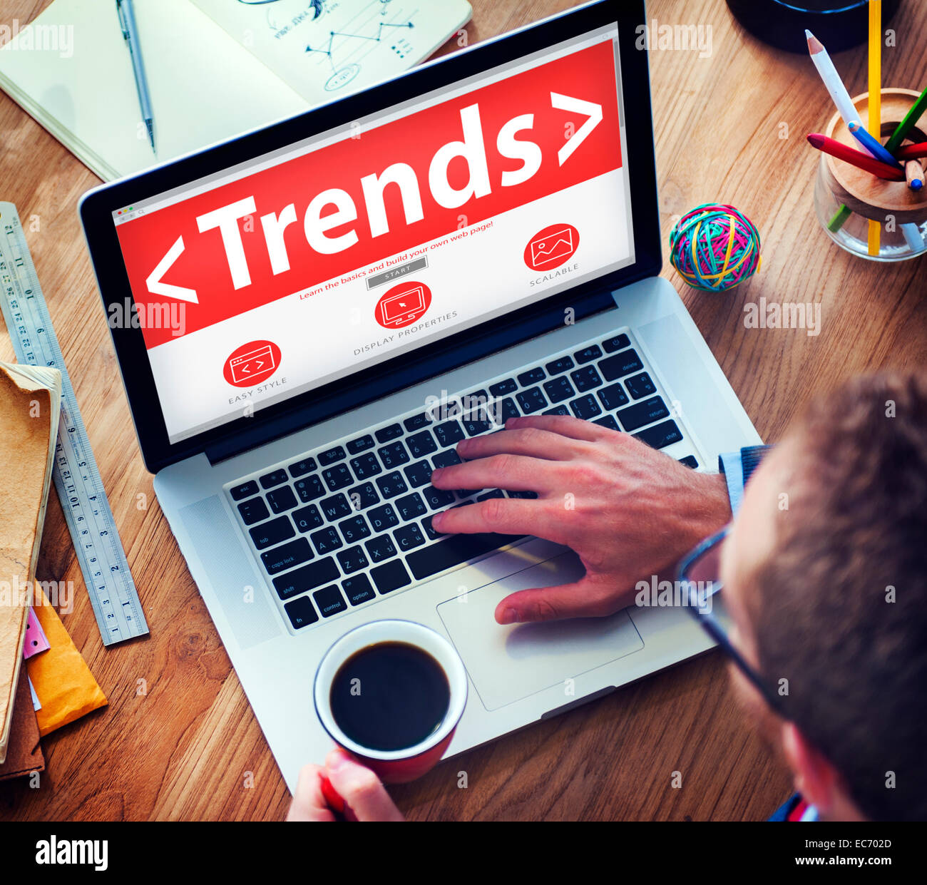 New Trends Future Bussiness Growing Concept - Stock Image