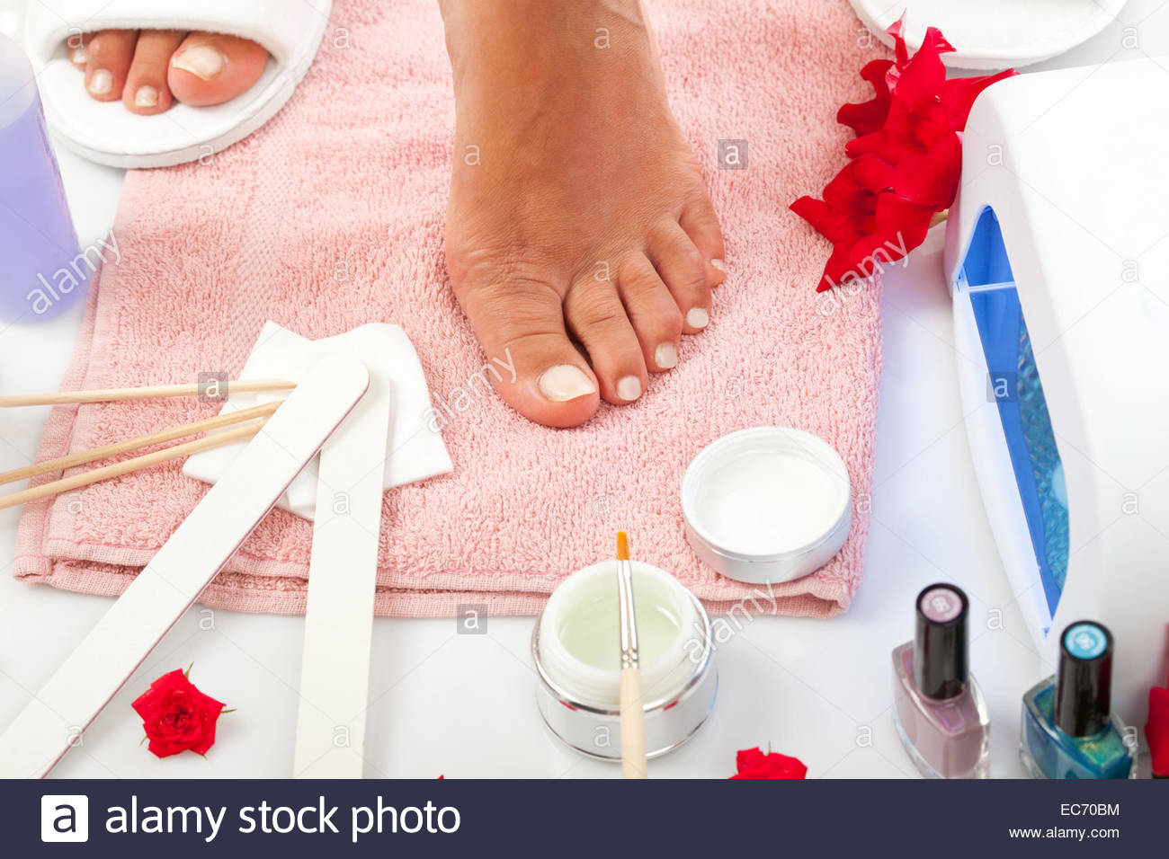 Nail Spa manicure and pedicure with equipment Stock Photo: 76371336 ...