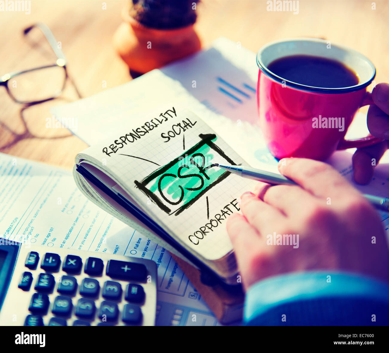 Corporate Social Responsibility Sustainability Responsible Office Accounting Concept - Stock Image