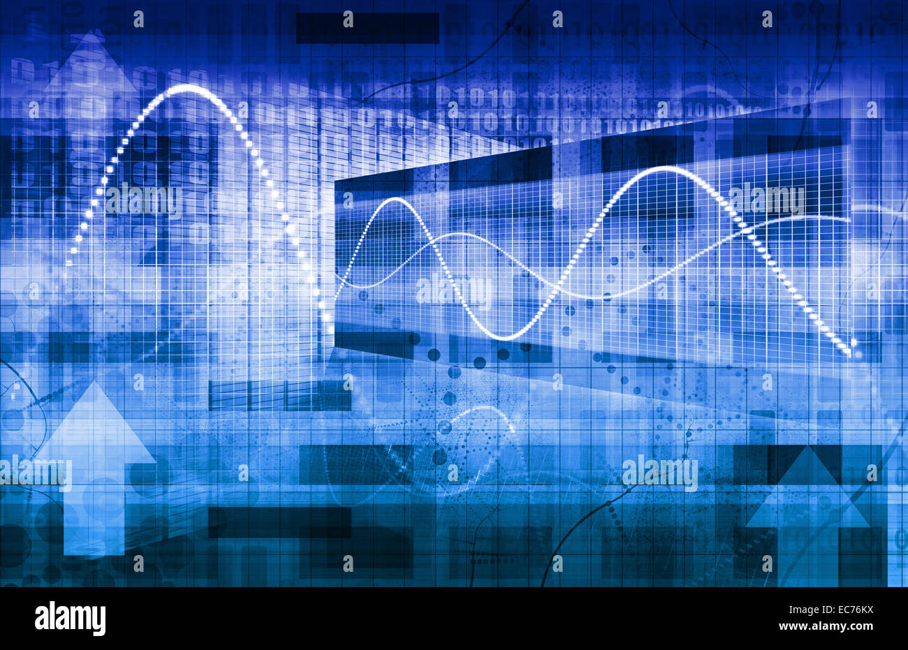 Business Strategy and Project Scheduling on a Graph - Stock Image