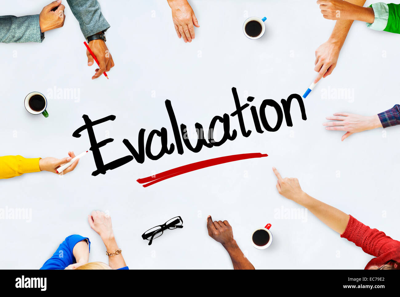 Multi-Ethnic Group of People and Evaluation Concept - Stock Image