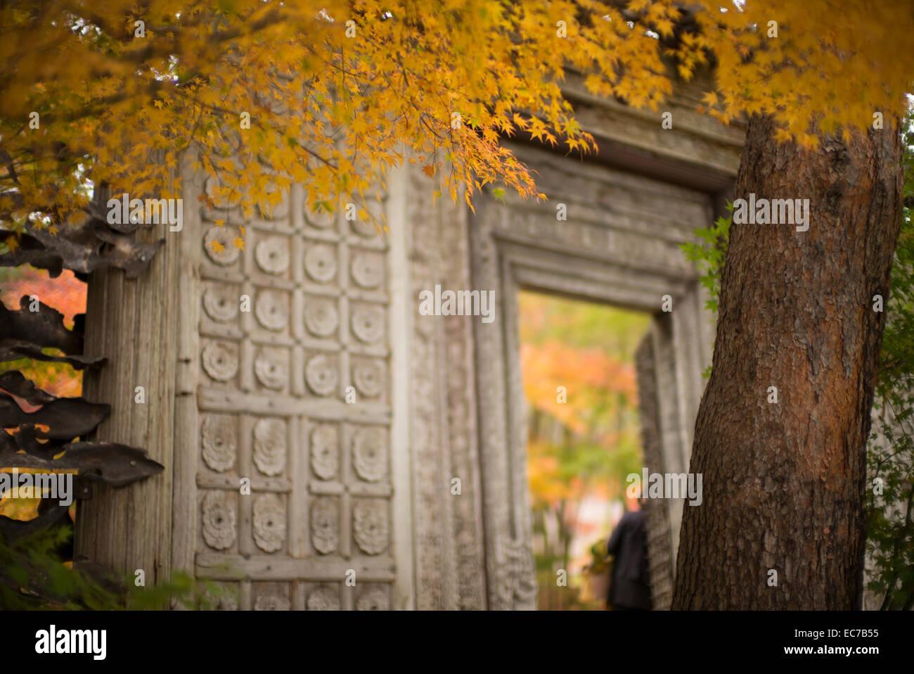 Japanese Garden Entrance Stock Photos & Japanese Garden Entrance ...