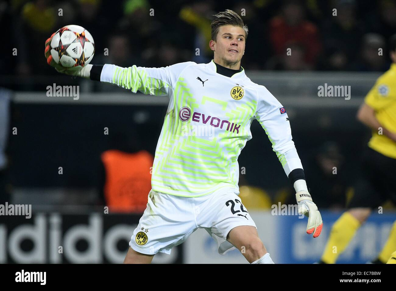 Dortmund's goalkeeper Michael Langerak in action during the Champions League Group D football match between - Stock Image