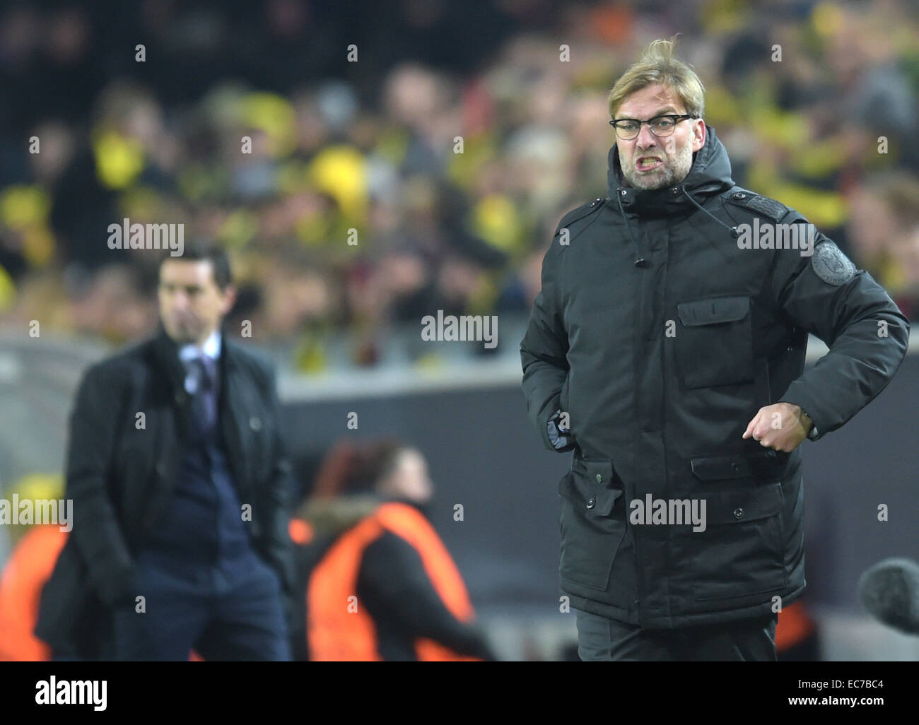 Dortmund's trainer Juergen Klopp during the Champions League Group D football match between BorussiaDortmund - Stock Image
