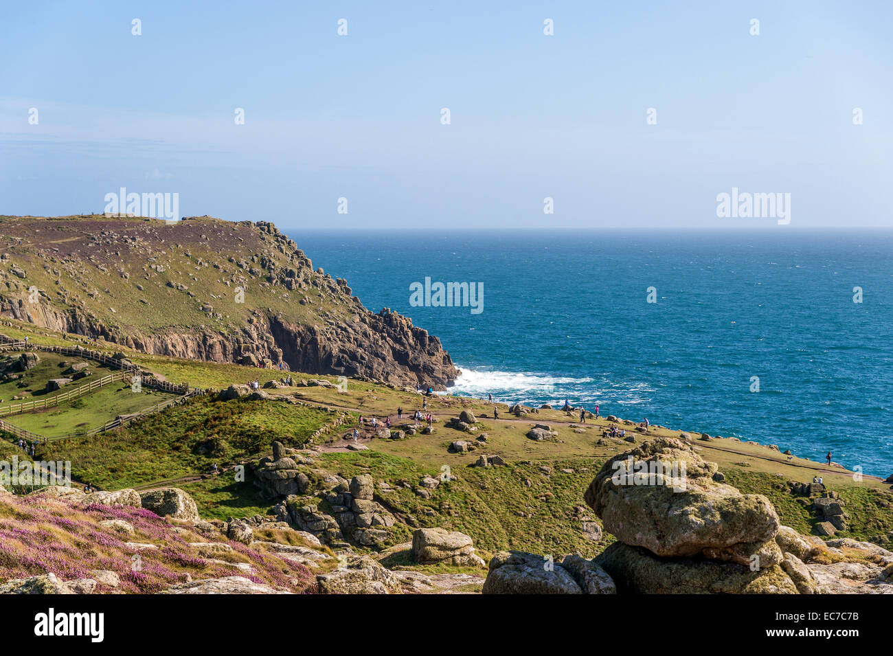 United Kingdom, England, Cornwall, Land's End, Rocky coast at Englisch Chanel - Stock Image