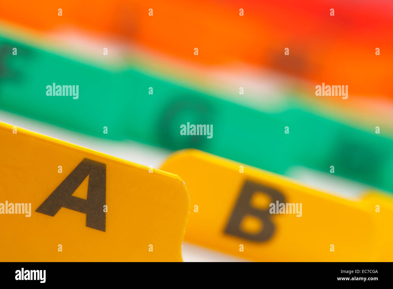 Card filing system stock photos card filing system stock images alphabetical color coded business card file system stock image colourmoves