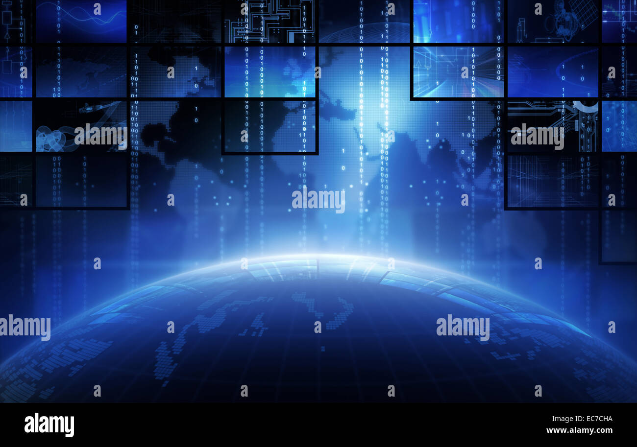 Television broadcast and multimedia composition. - Stock Image