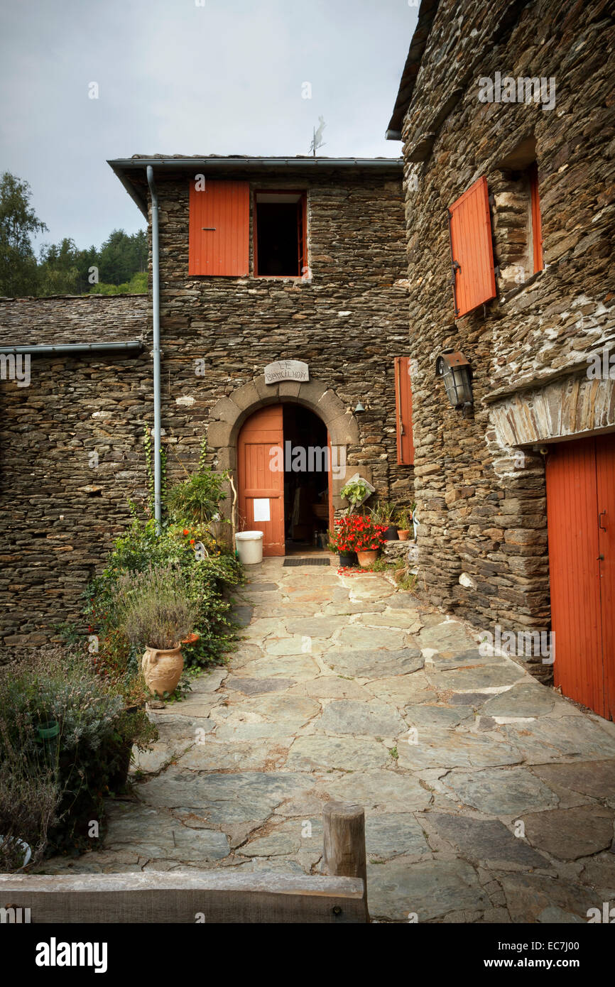 schist french home cevennes france - Stock Image