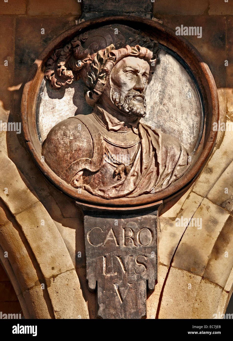 Carolus V - Charles V 1500 – 1558 Emperor of the Holy Roman Empire from 1519 and King of the Spanish realms 1516 - Stock Image