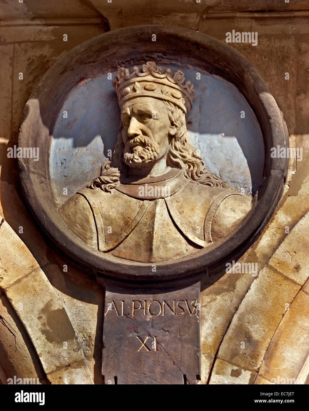 Alpionsvs XI - Alfonso XI ( 1311 – 1350) was the king of Castile Spanish King Royal Spain ( Plaza Mayor Square Salamanca Stock Photo