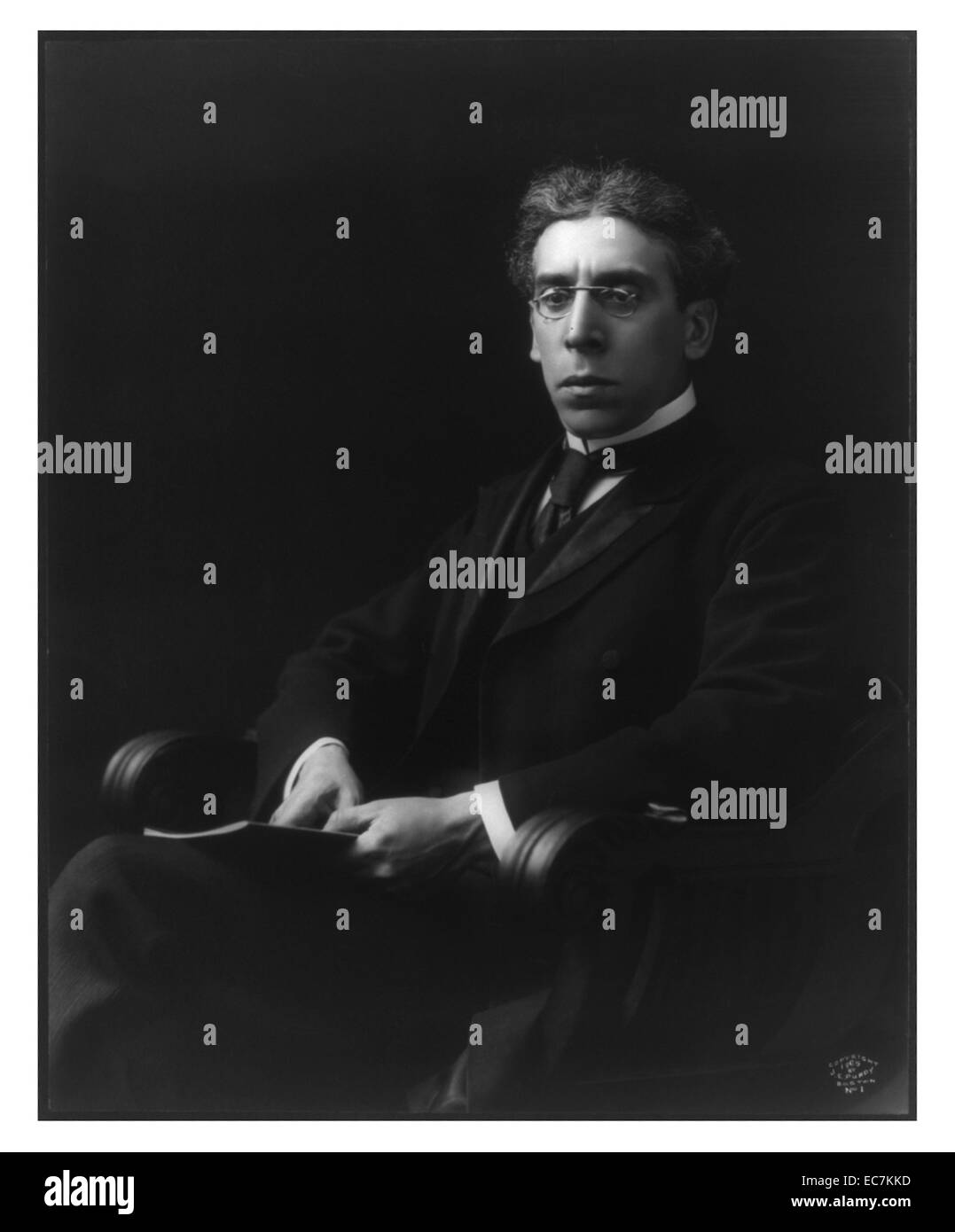 Israel Zangwill, 1864-1926. An English playwright and novelist. He dedicated his life to championing the cause of - Stock Image