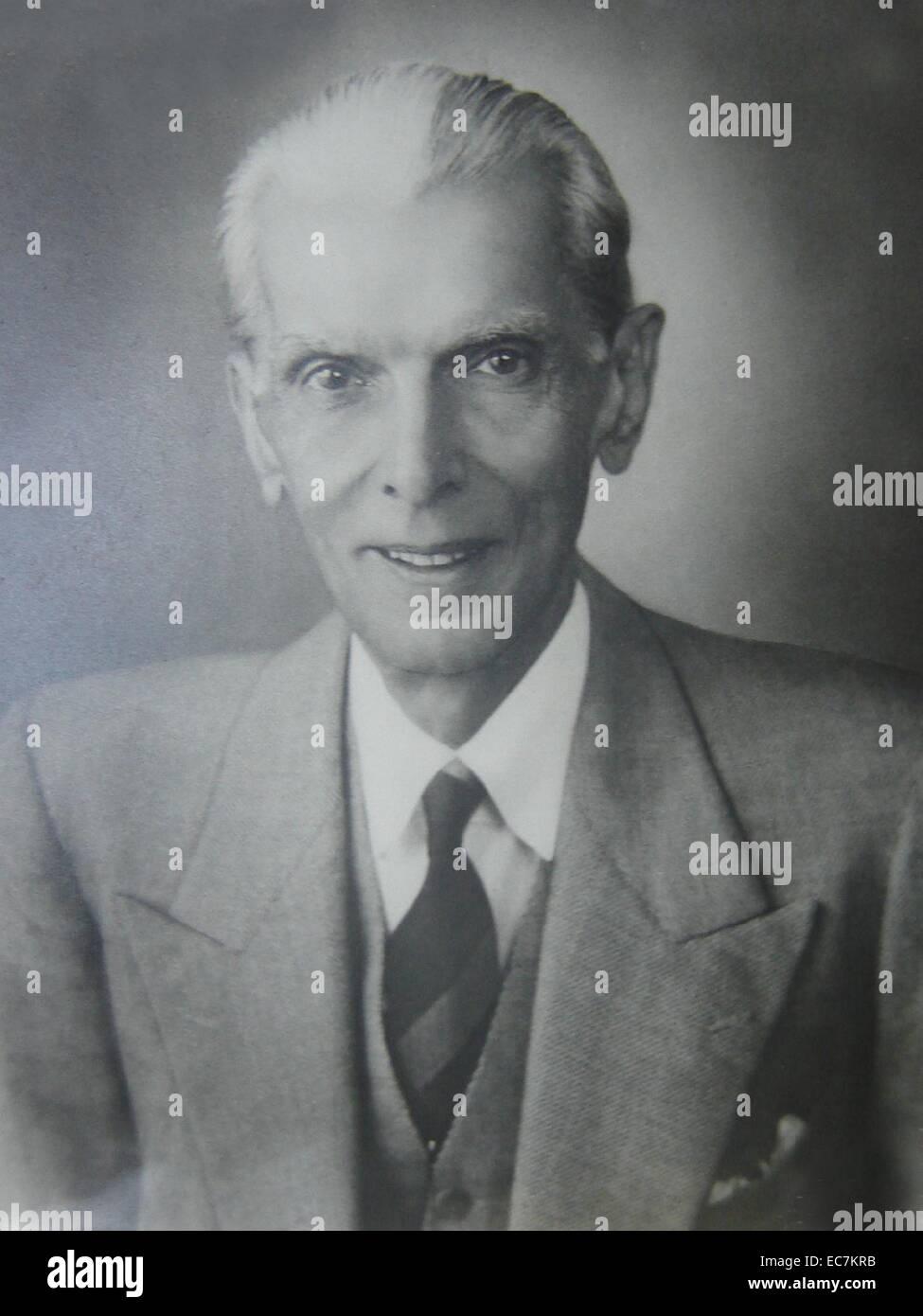Muhammad Ali Jinnah, Pakistan, head of state, lawyer, politician, - Stock Image