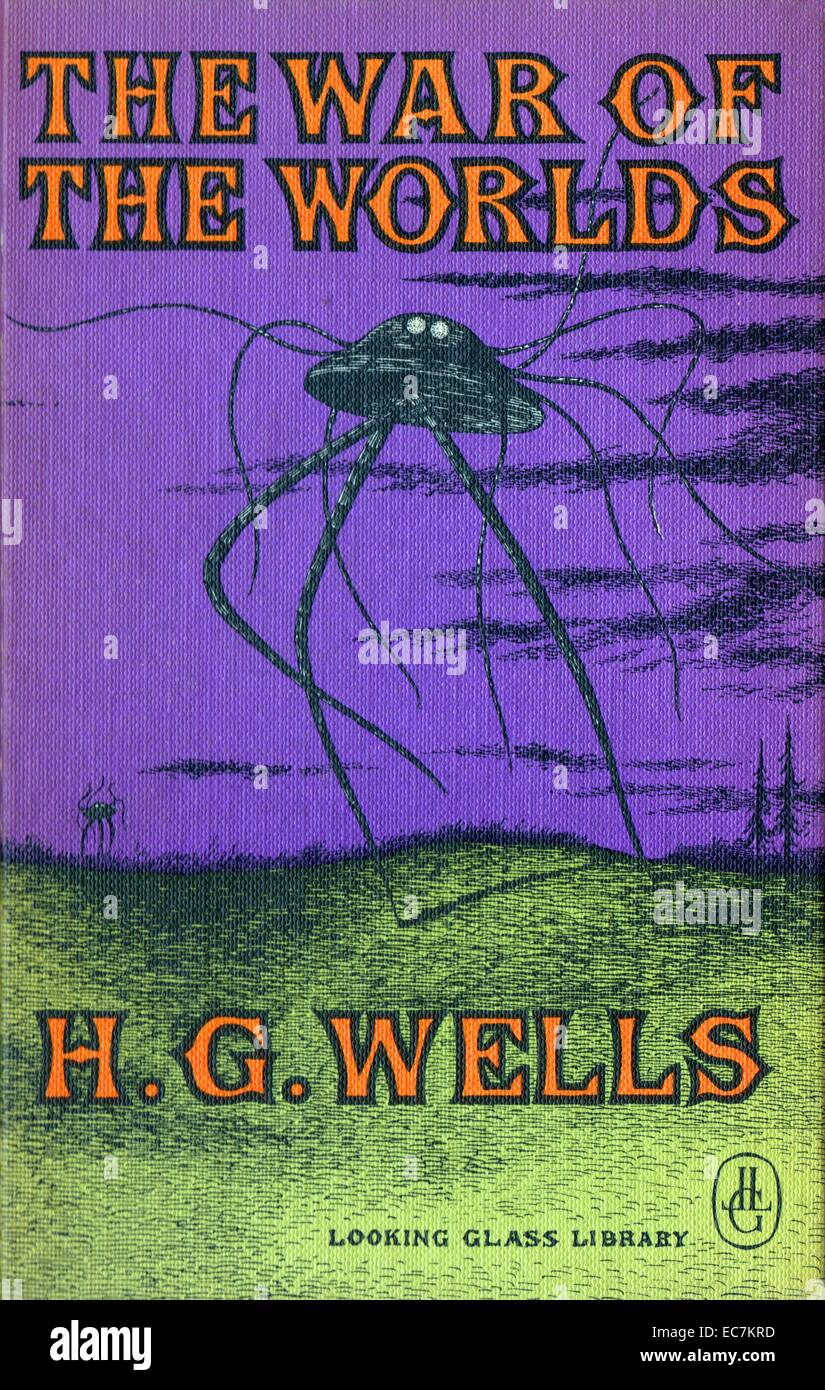 The War of the Worlds is a science fiction novel by English author H. G. Wells - Stock Image