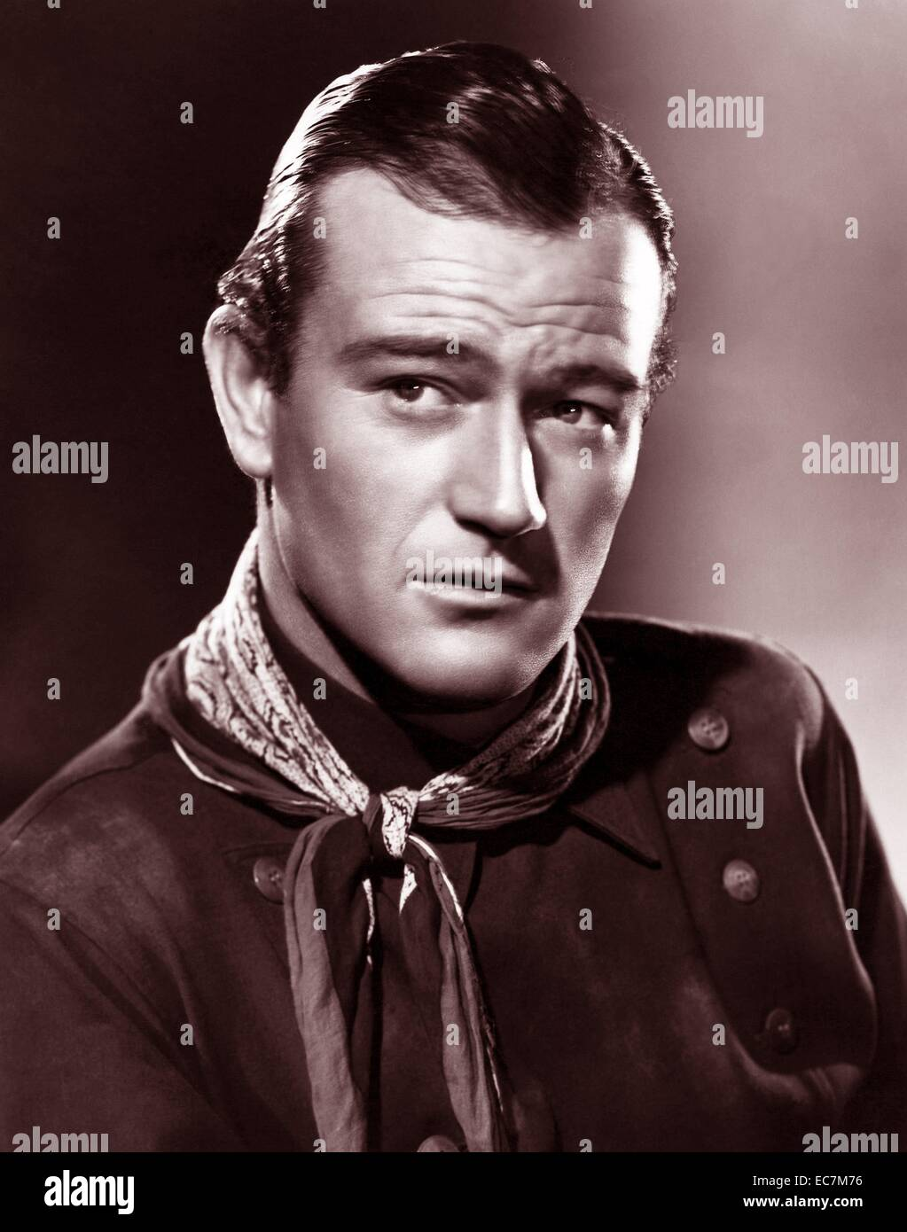 John Wayne 1907 – June 11, 1979, American film actor, director and producer. In stagecoach 1939 - Stock Image
