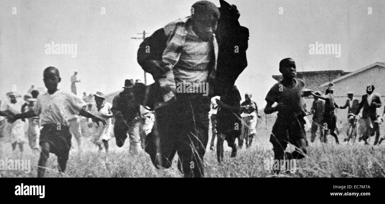 Sharpeville massacre occurred on 21 March 1960, - Stock Image
