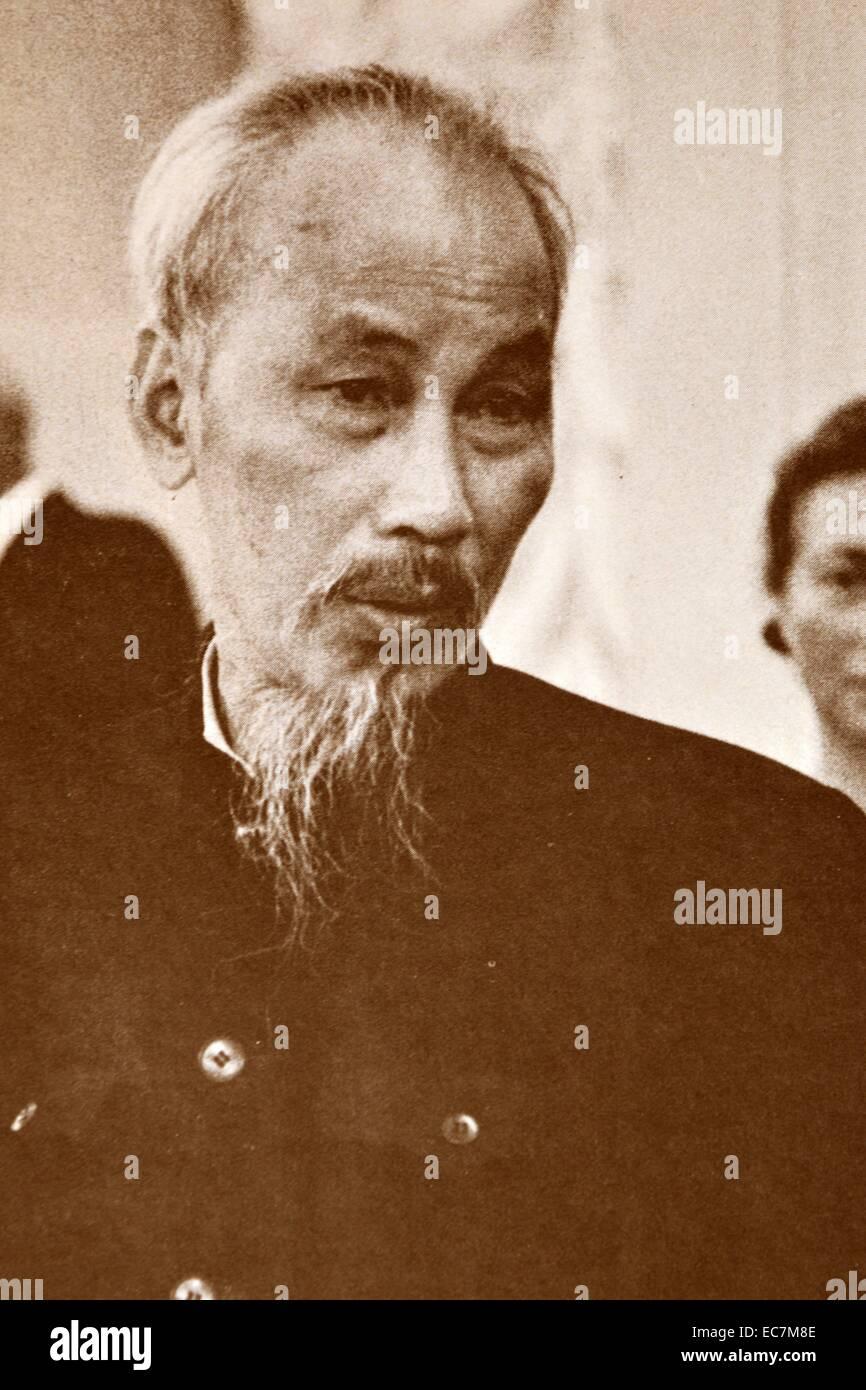Hồ Chí Minh  1890 – 2 September 1969, Vietnamese communist revolutionary leader who was prime minister (1945–1955) - Stock Image