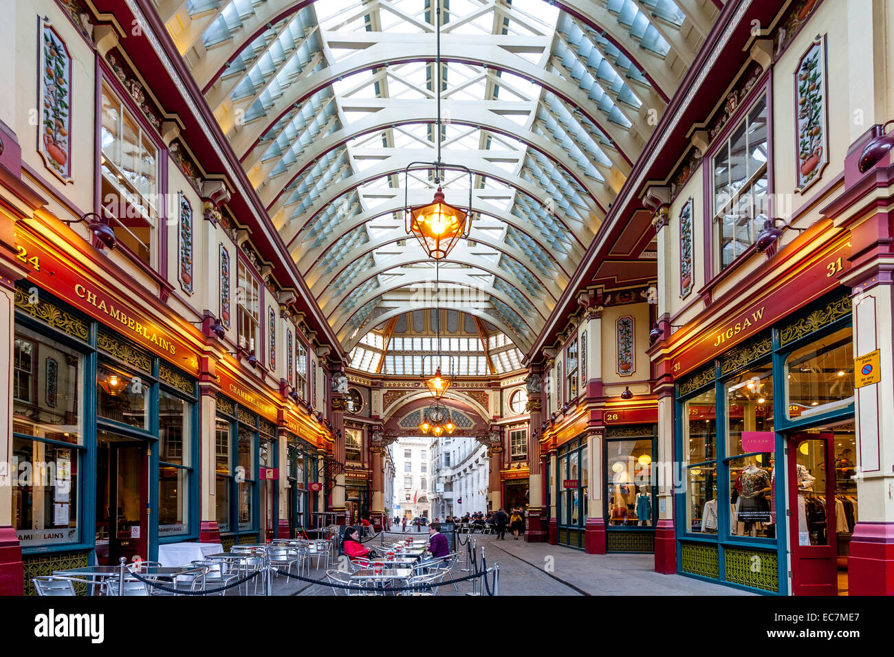 Leadenhall Market Interior, London, England - Stock Image
