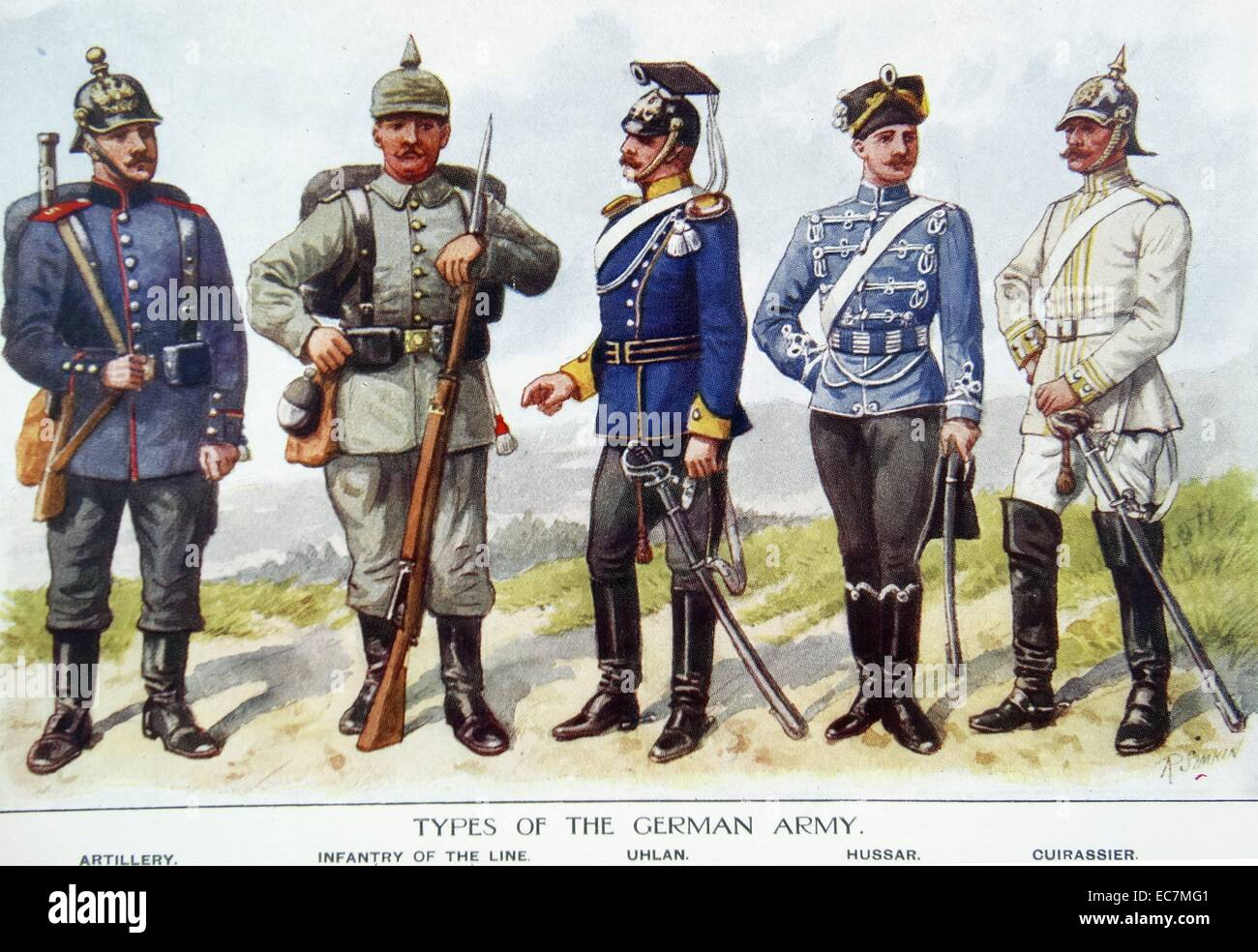 German army uniforms from World war One Stock Photo