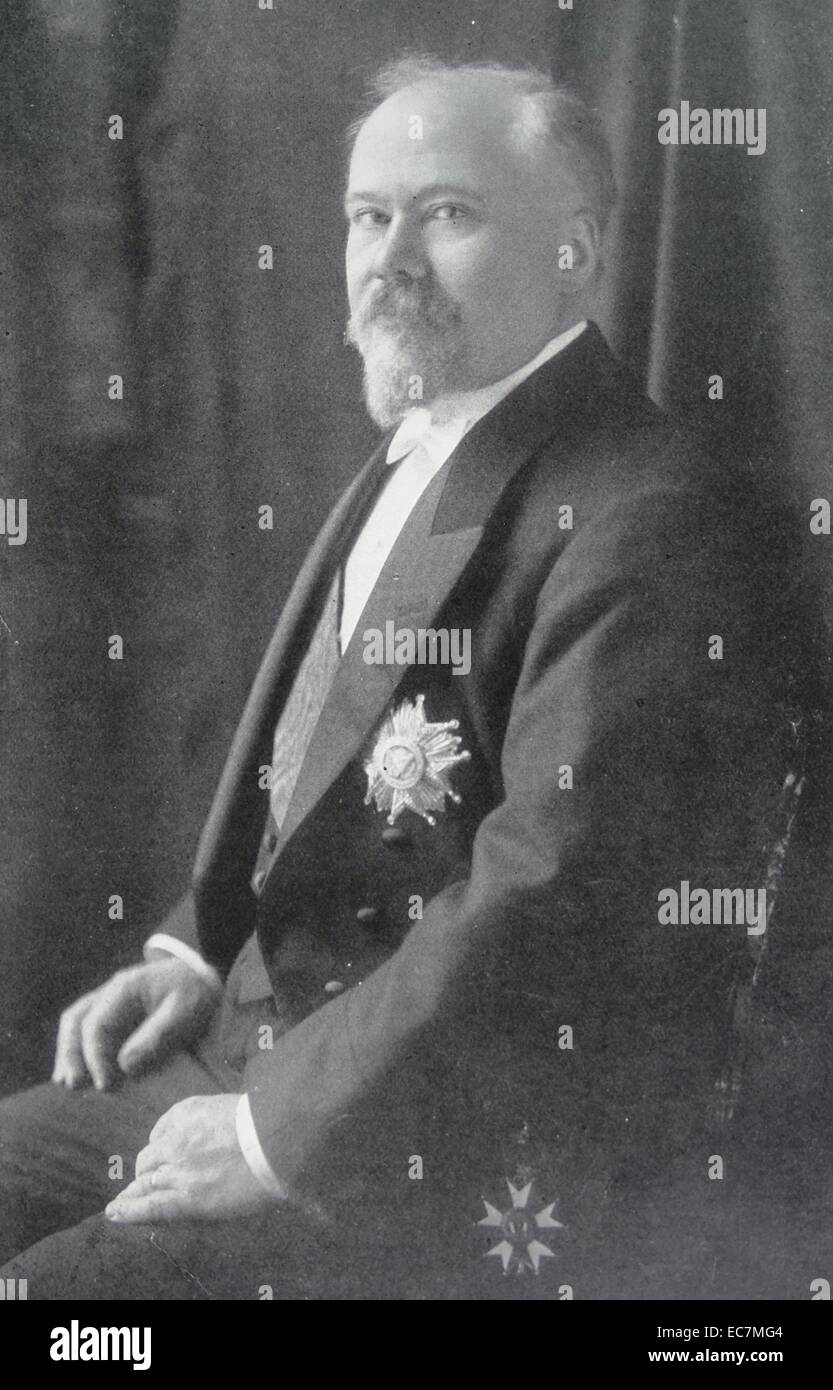 Raymond Poincaré (1860–1934), French Prime Minister or President from 1913 to 1920 - Stock Image