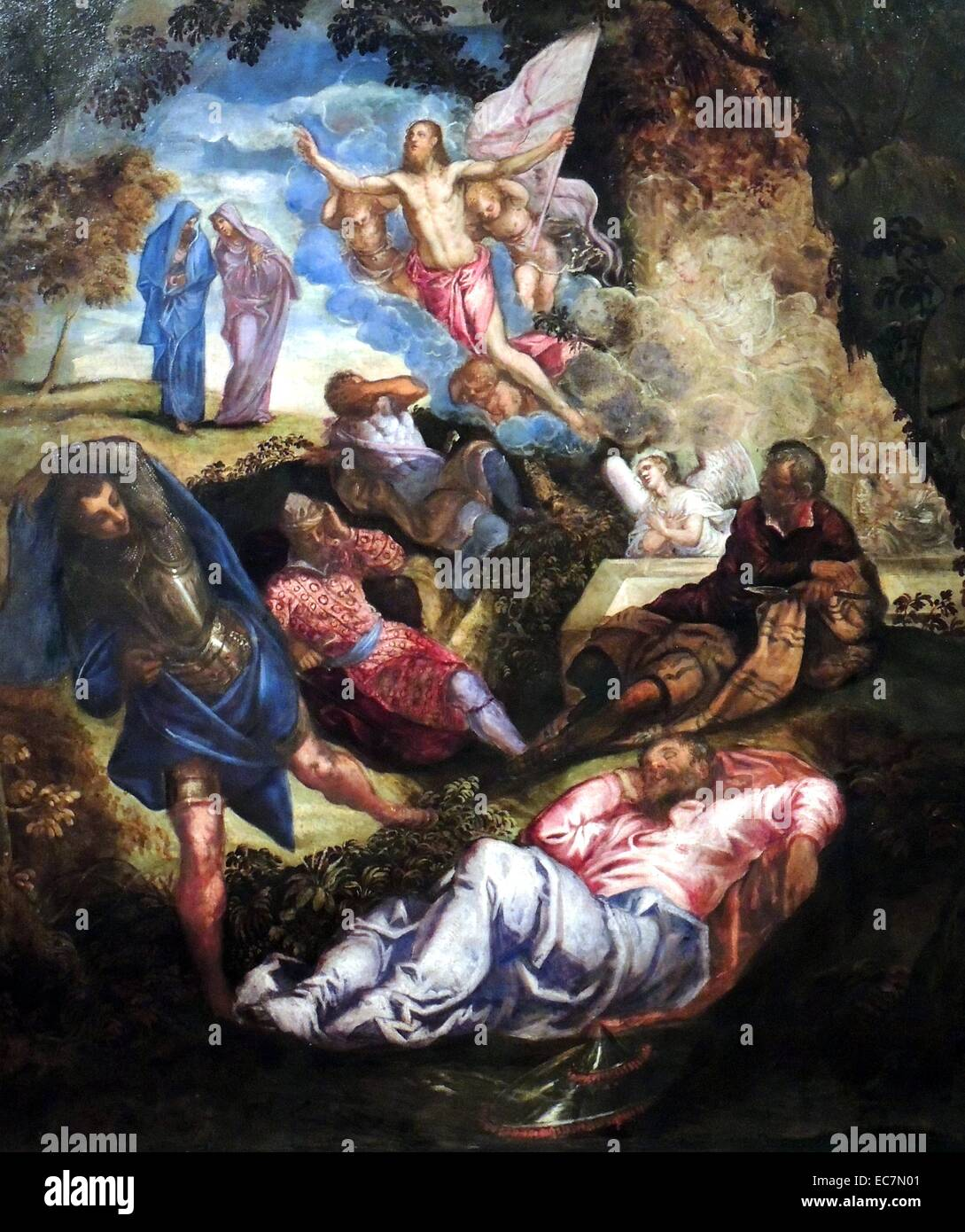 The Resurrection of Christ by Jacopo Robusti. - Stock Image