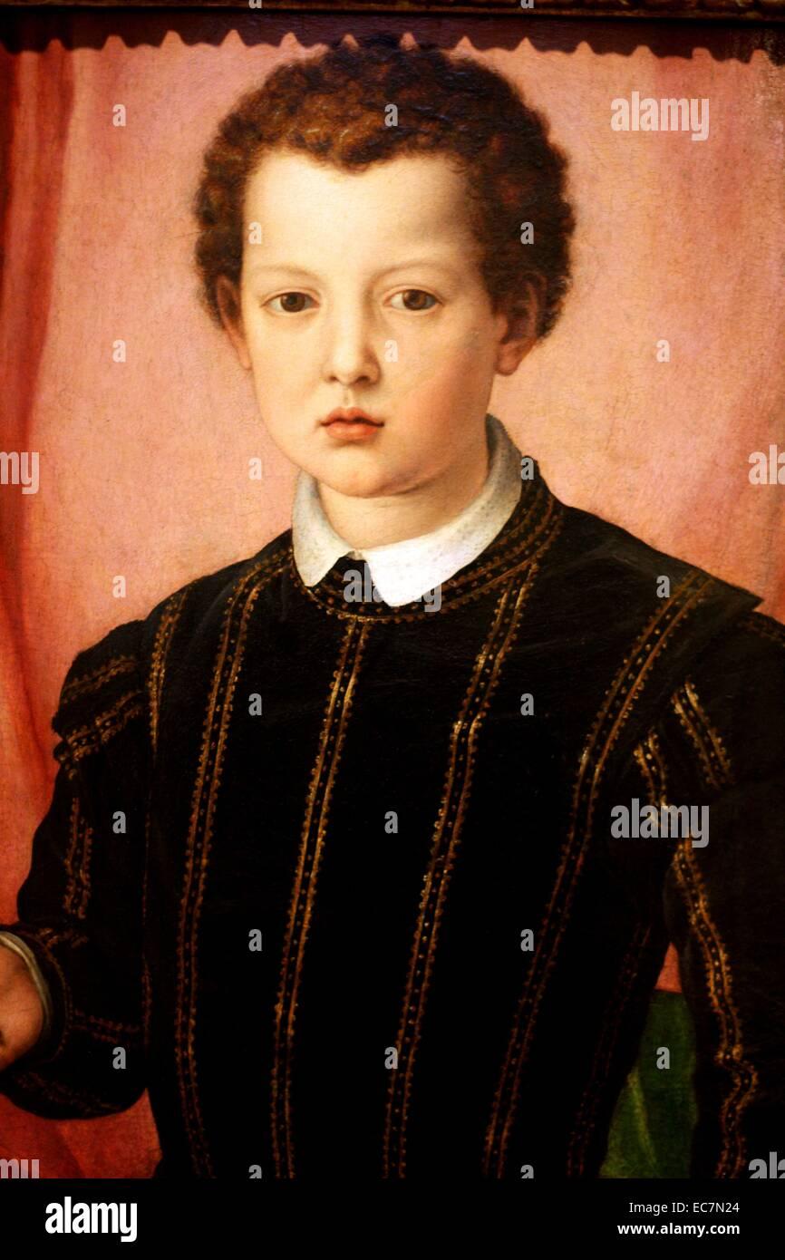 Agnolo Bronzino Portrait of Giovanni de' Medici. - Stock Image