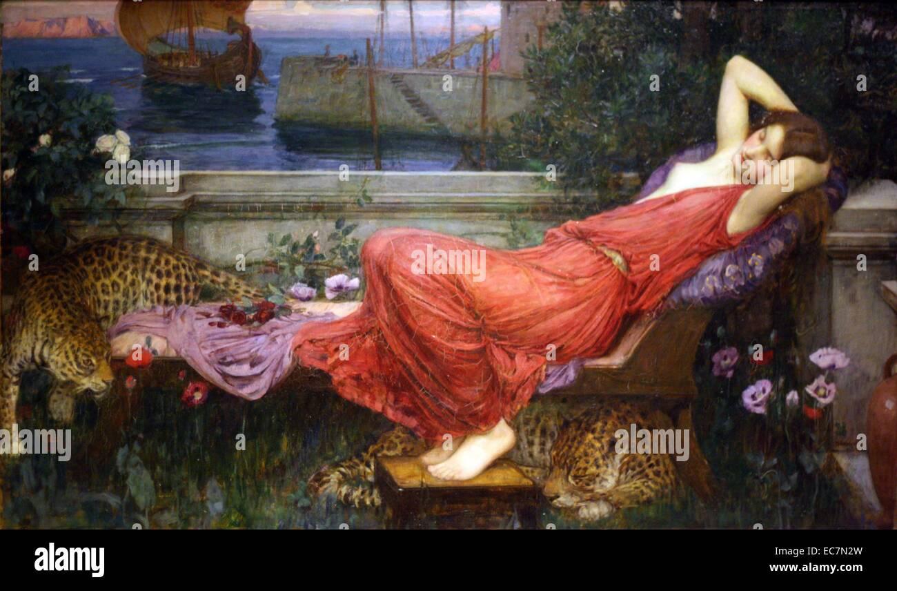 Ariadne by John William Waterhouse. Stock Photo