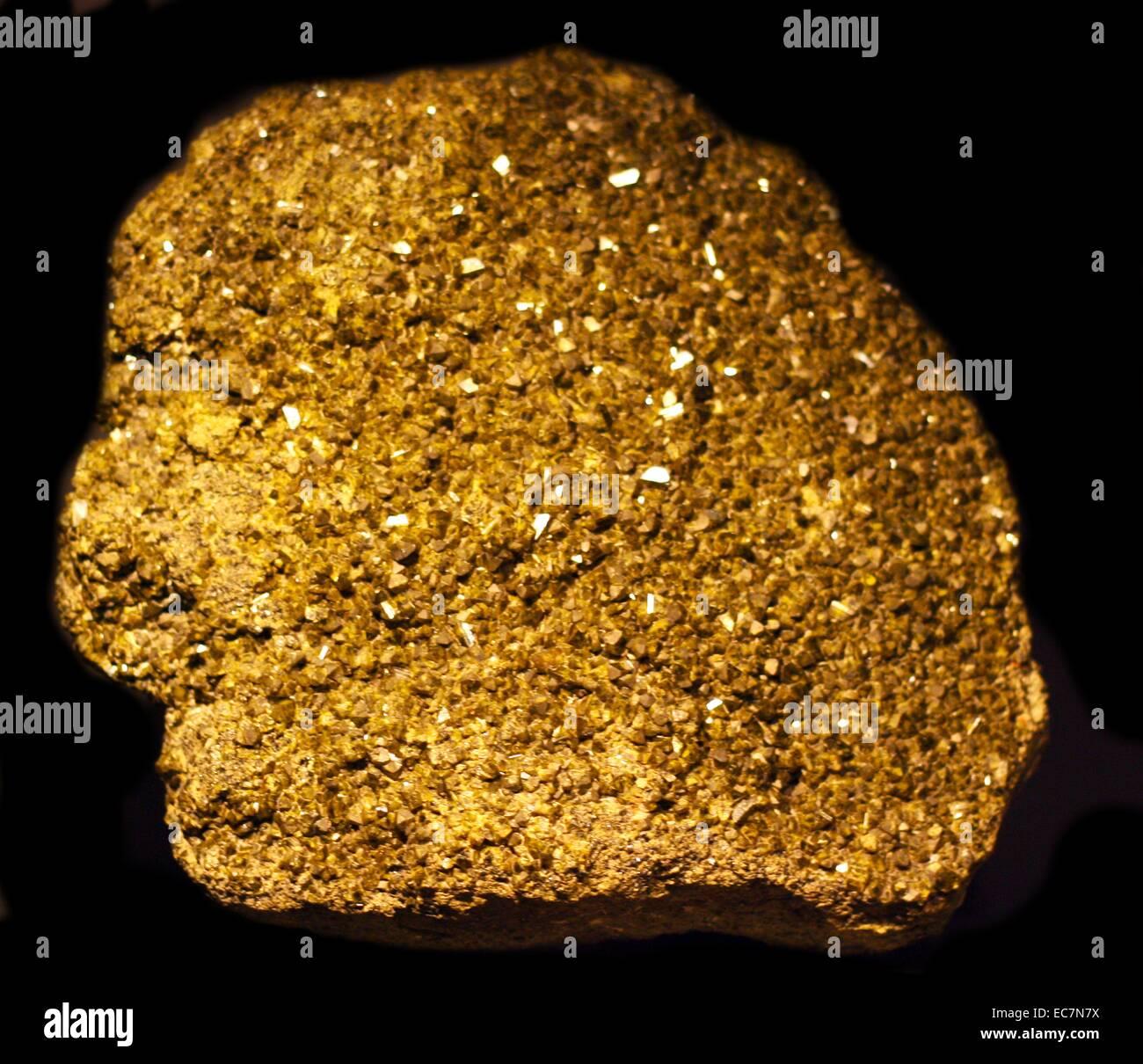 Epidote, Baja California, Mexico.  Epidote is a calcium aluminium iron sorosilicate mineral. - Stock Image