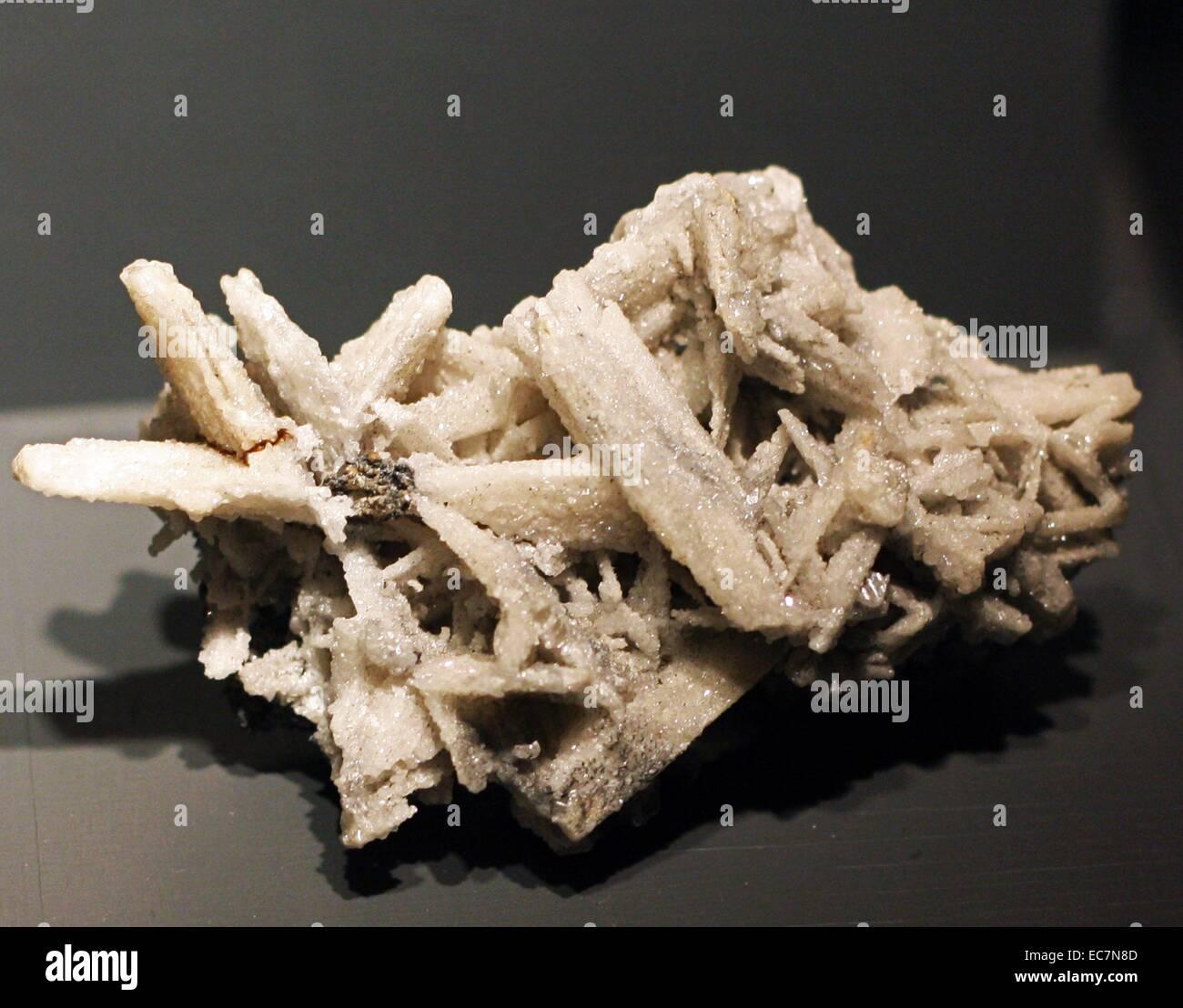 Anglesite, Broken Hill, Australia. Is a lead sulfate mineral. - Stock Image