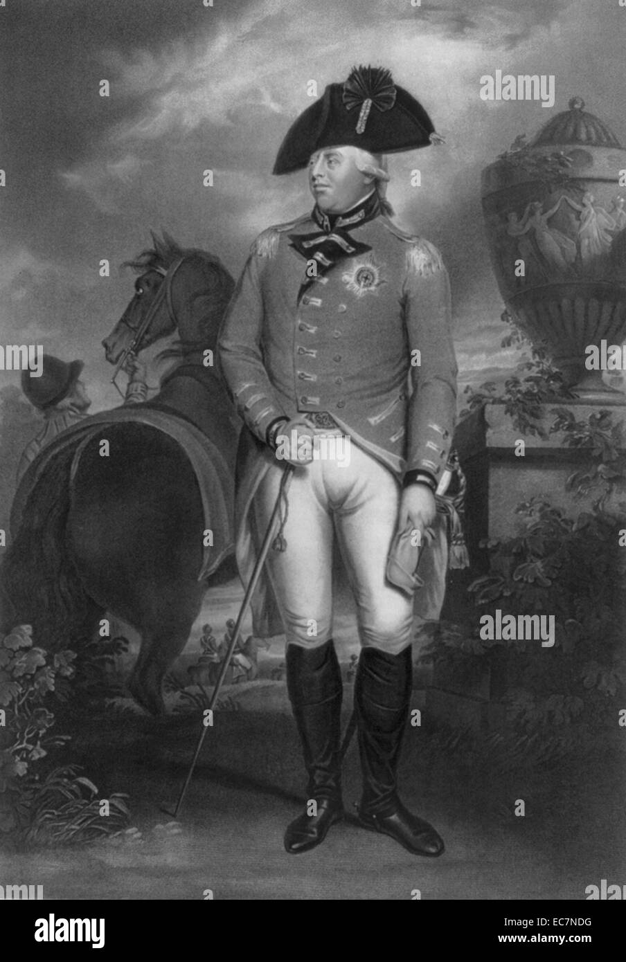 His most gracious majesty King George the Third. Painted by Sr. Wm. Beechey R.A. King George III was King of the - Stock Image