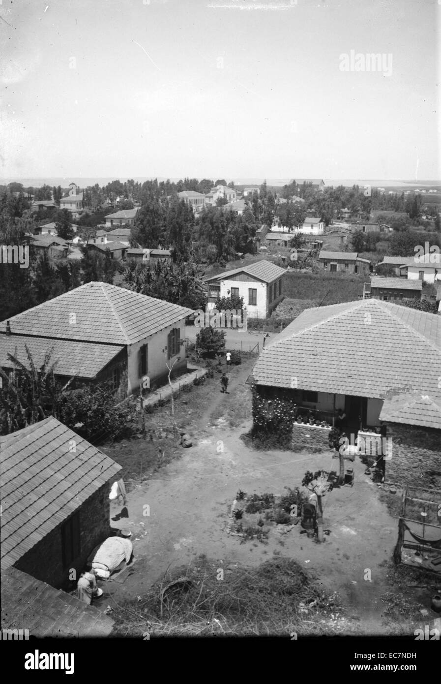 Jewish colonies and settlements - Richon le Zion in Palestine - Stock Image