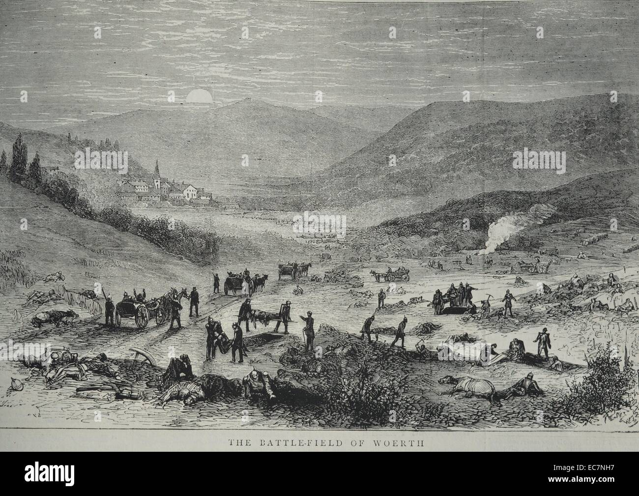 The Battlefield of Woerth - Stock Image