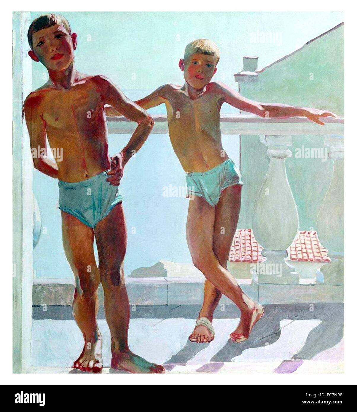 Alexander Deineka (Soviet Realist artist) Crimea, Young Pioneers 1935 - Stock Image