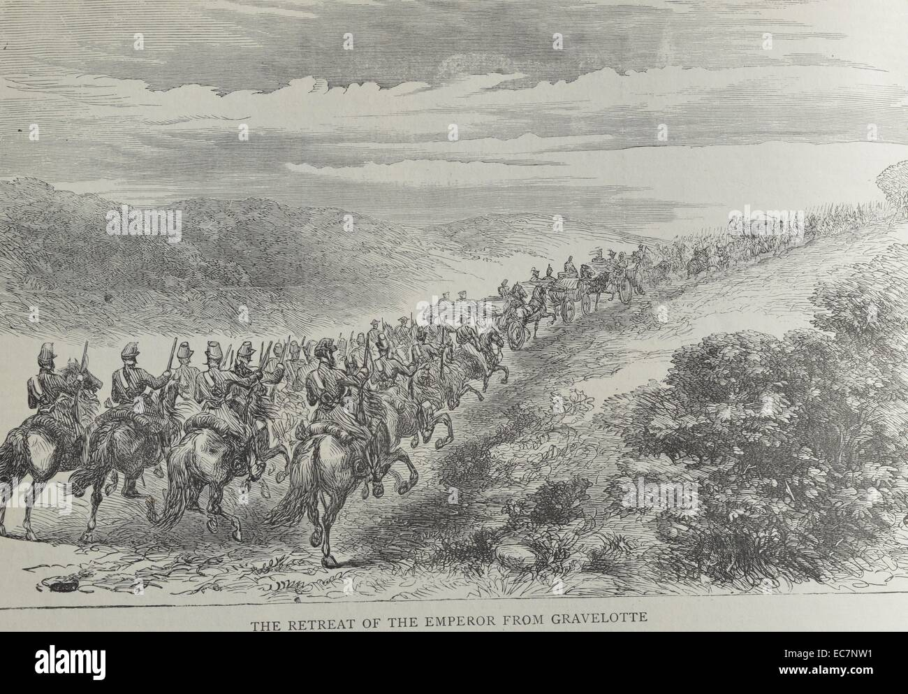 The Retreat of the Emperor from Gravelotte - Stock Image