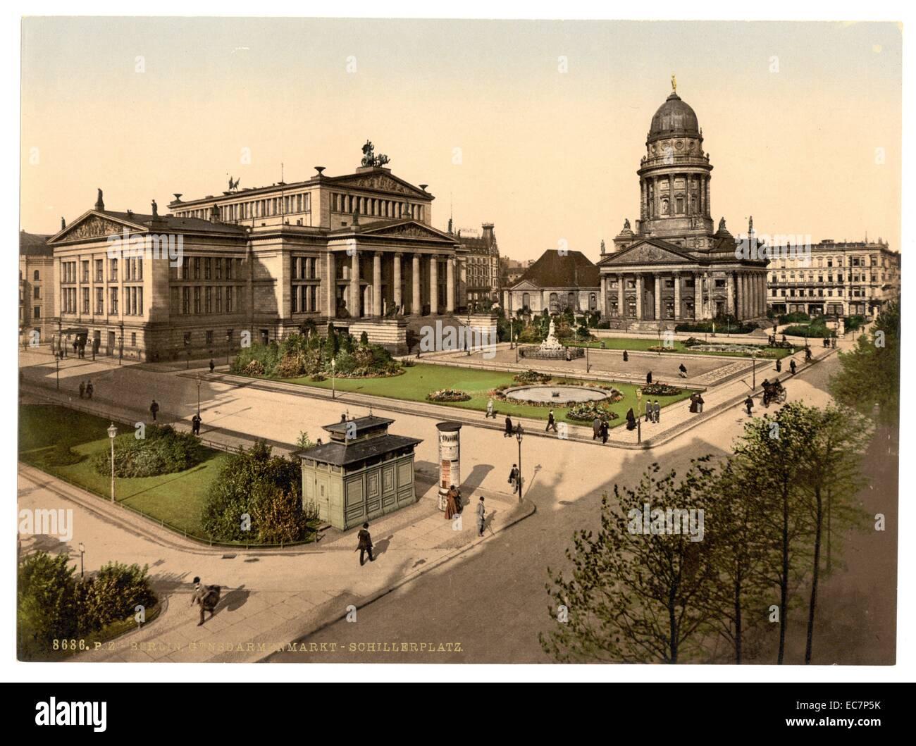 Schiller Square, Berlin, Germany - Stock Image