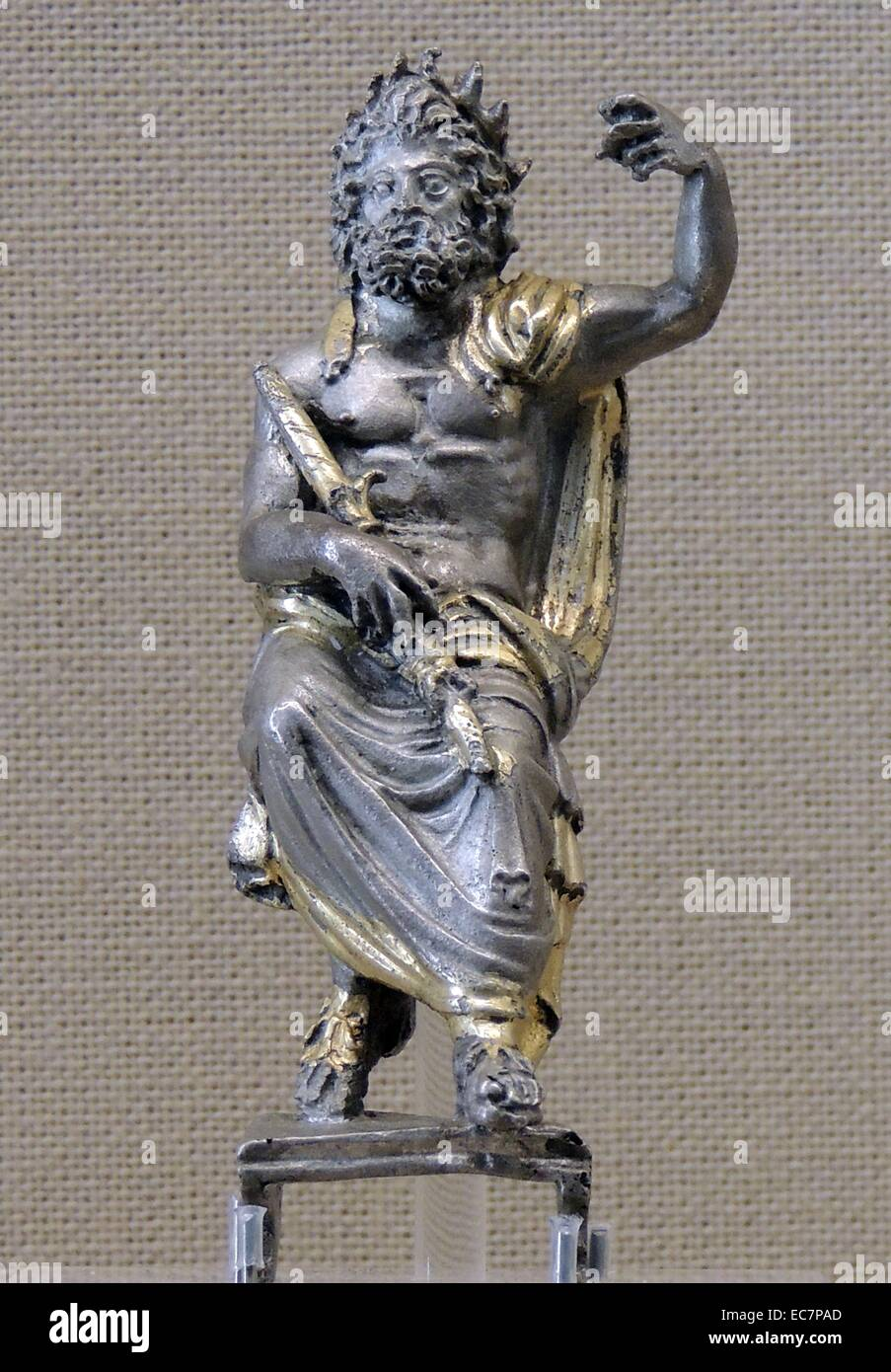 Zeus, patron of the Olympic Games. - Stock Image