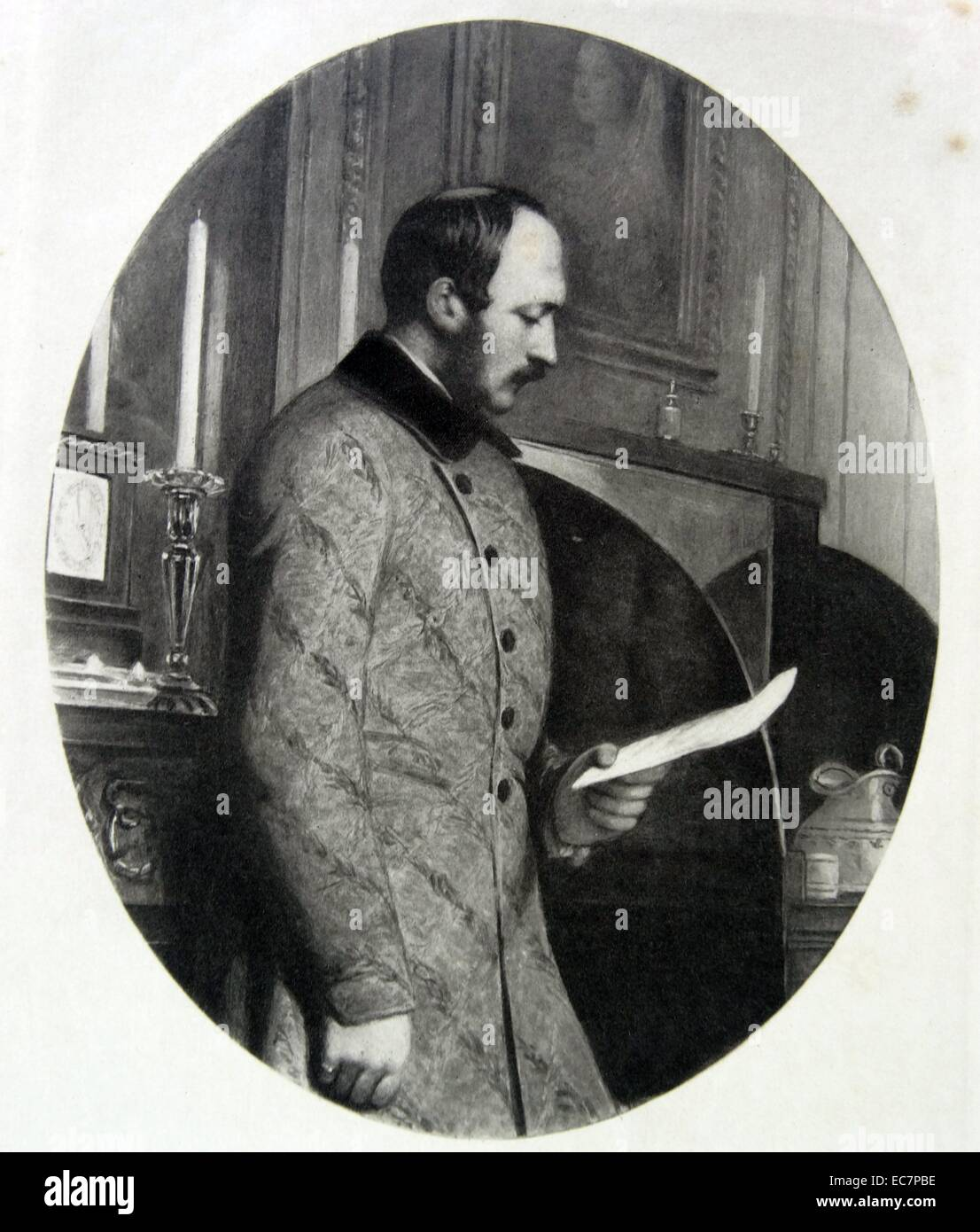 Prince Albert the Prince Consort and husband of Queen Victoria in 1862 - Stock Image