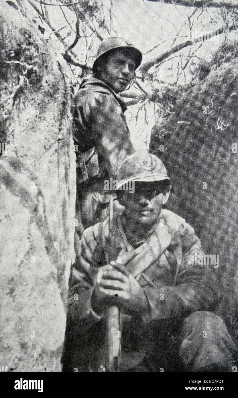 French infantry during World War One - Stock Image