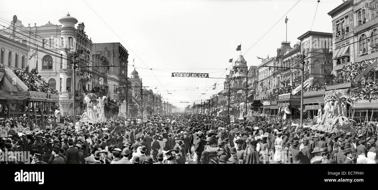 Photograph of Mardi Gras Celebrations - Stock Image