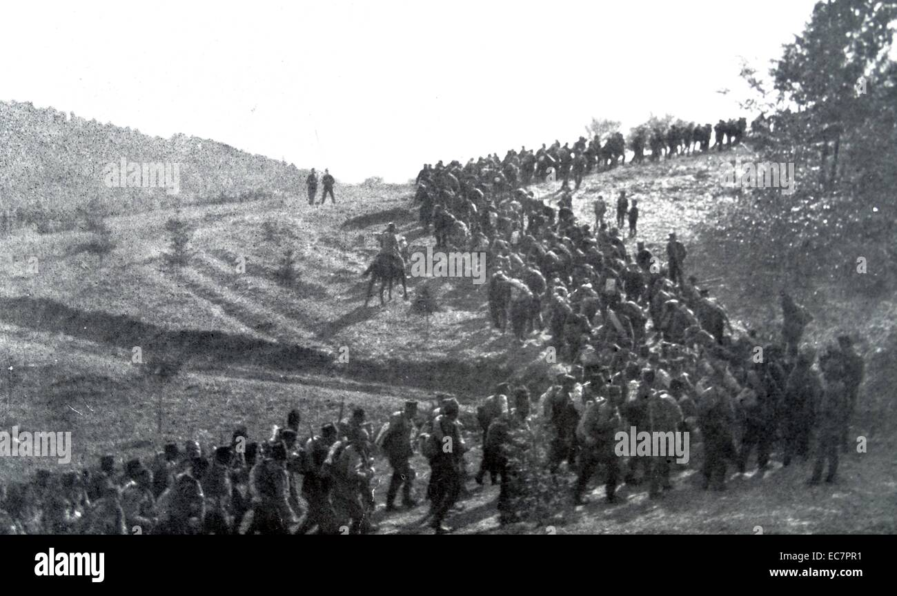 World war One: Russian Column marches in Austria 1916 - Stock Image