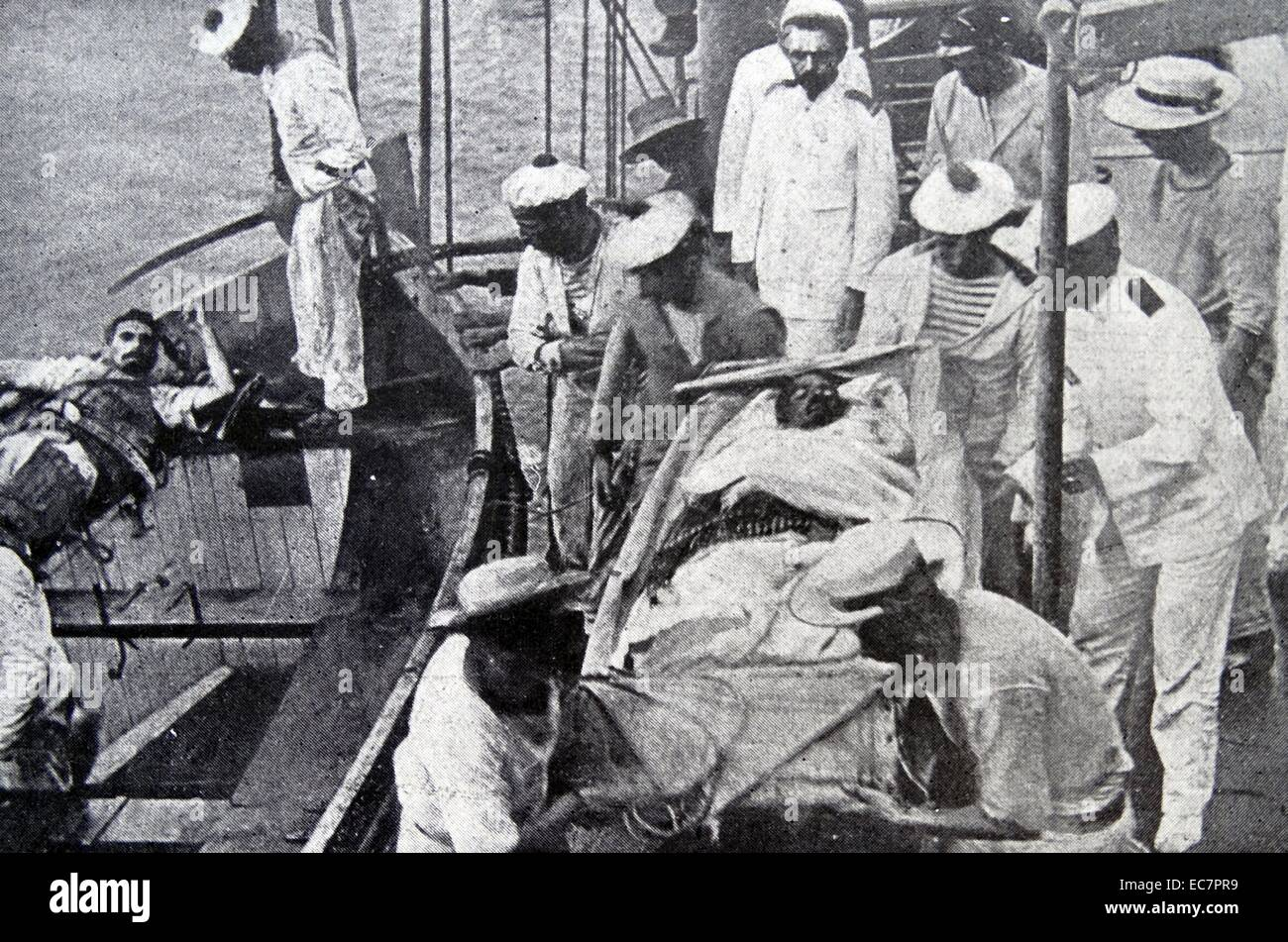 Survivors from 'Emden' sunk at the Battle of Cocos  9 November 1914 - Stock Image